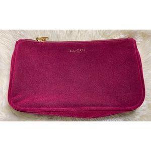 Gucci Beauty Burgundy Makeup Bag